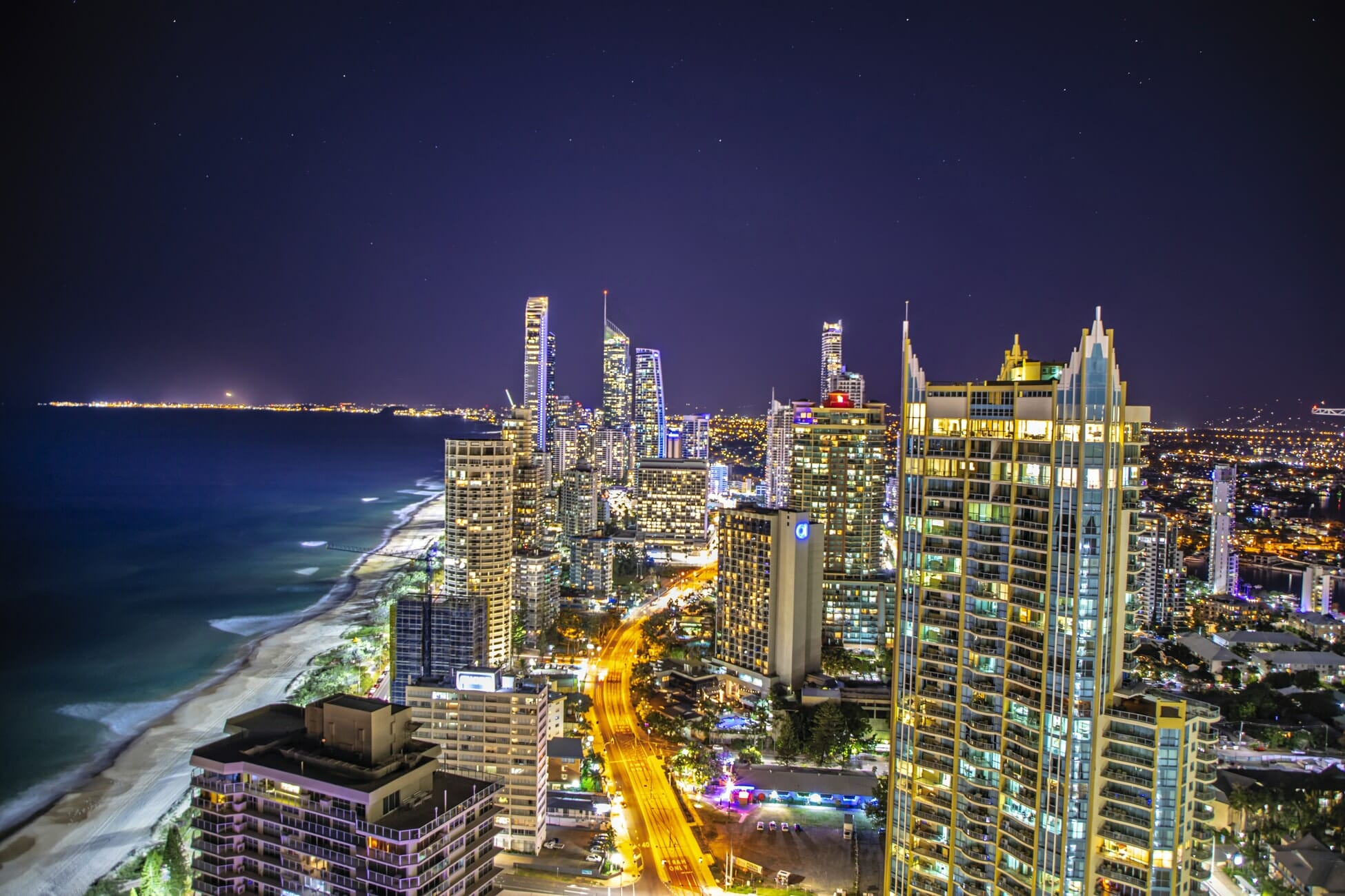 Nightlife in Surfers Paradise at the Gold Coast QLD