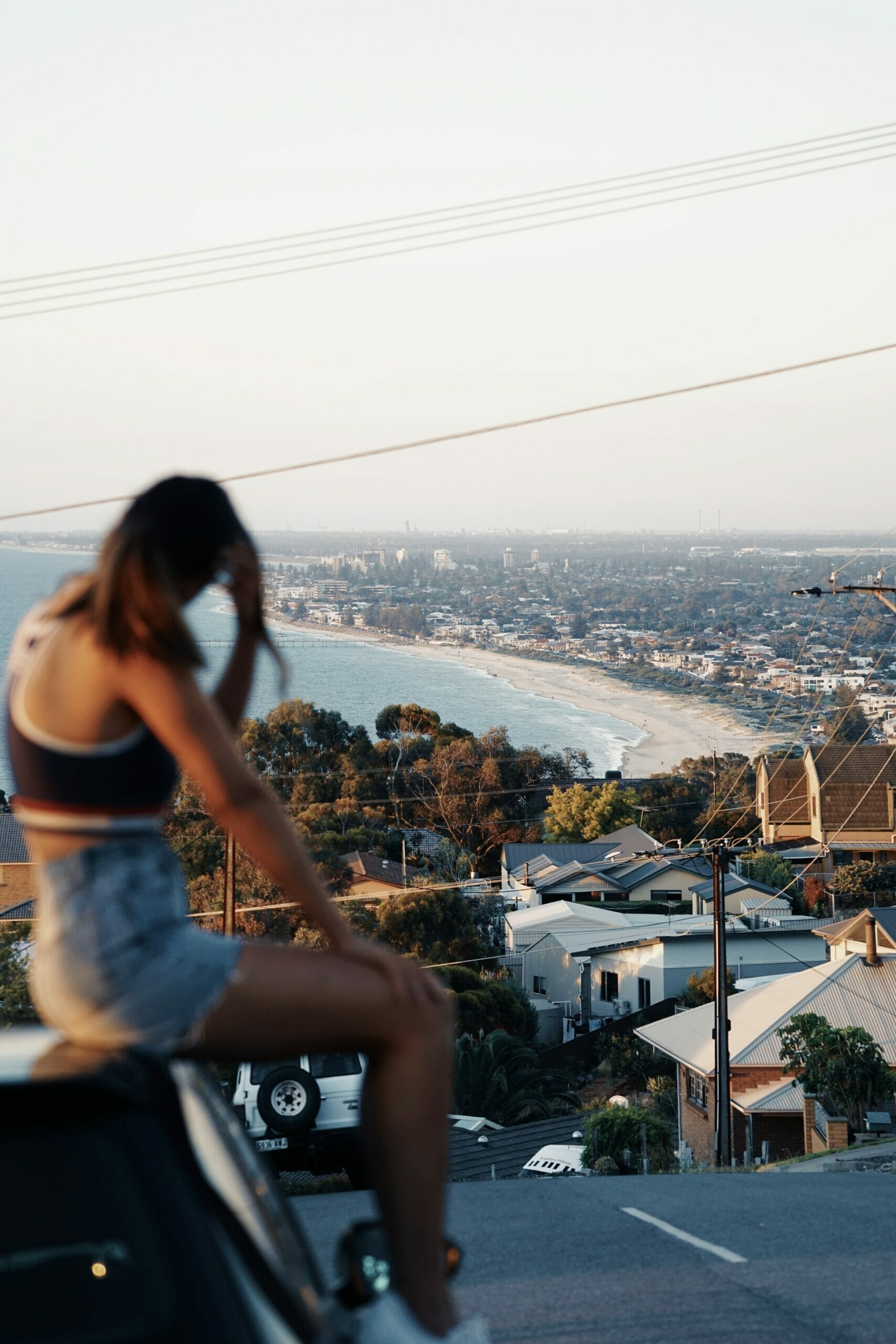 View of Adelaide from a hill in the suburbs